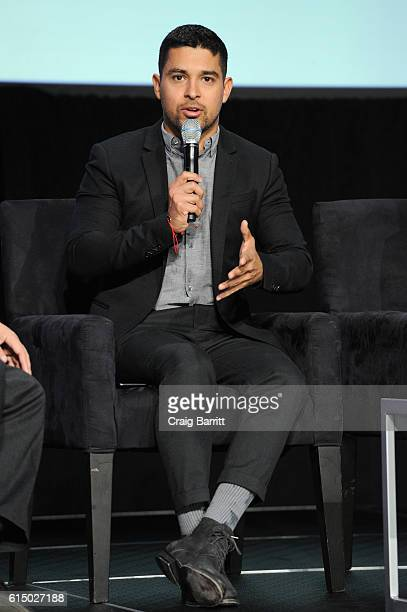 Actor Wilmer Valderrama speaks on stage during the 5th Annual Festival PEOPLE En Espanol Day 2 at the Jacob Javitz Center on October 16 2016 in New...