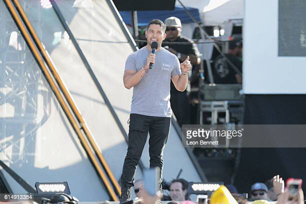 Actor Wilmer Valderrama speaks onstage at Univision and Fusion host RiseUp AS ONE at Cross Border Xpress on October 15 2016 in San Diego California