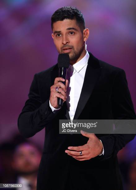 Actor Wilmer Valderrama speaks onstage during The ALMAs 2018 LIVE On Fuse at LA Live Event Deck on November 4 2018 in Los Angeles California
