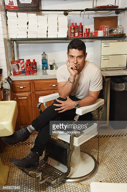 Actor Wilmer Valderrama teams up with Old Spice to right hair wrongs at Sharps Barber and Shop on July 7 2016 in New York City