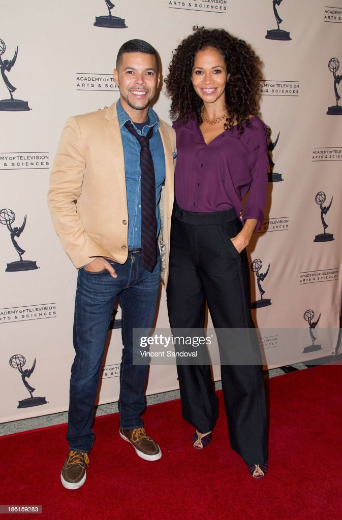 Actor Wilson Cruz (L) and actress Sherri Saum attend The Prime Time Closet - A History of Gays and Lesbians on TV at Academy of Television Arts & Sciences on October 28, 2013 in North Hollywood, California.