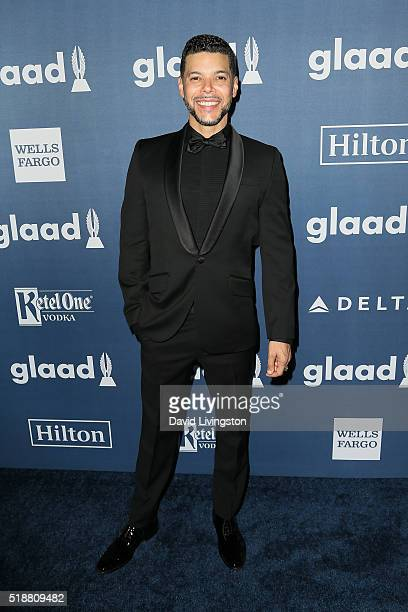 Actor Wilson Cruz arrives at the 27th Annual GLAAD Media Awards at The Beverly Hilton Hotel on April 2 2016 in Beverly Hills California