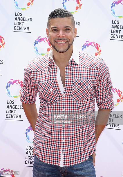 Actor Wilson Cruz arrives at the GLEH/Los Angeles LGBT Center's Garden Party on July 27 2014 in Los Angeles California