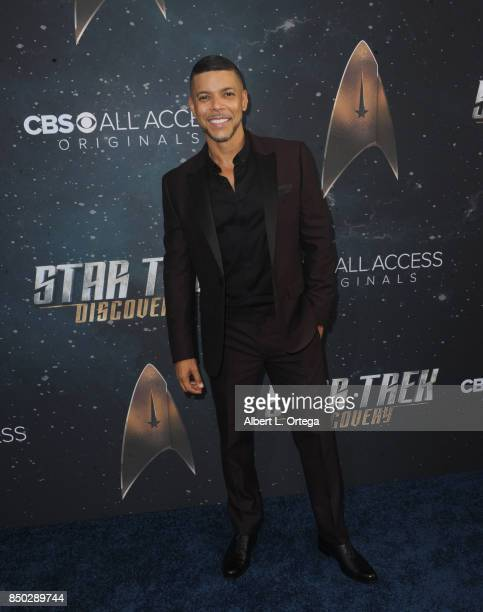 Actor Wilson Cruz arrives for the Premiere Of CBS's 'Star Trek Discovery' held at The Cinerama Dome on September 19 2017 in Los Angeles California