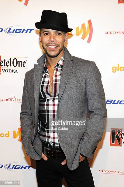 Actor Wilson Cruz attends the 2012 GLAAD Art Auction at Metropolitan Pavilion on November 18 2012 in New York City