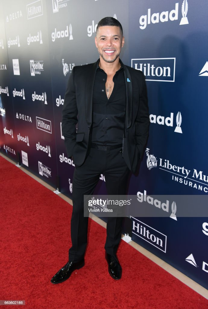 Actor Wilson Cruz attends the 28th Annual GLAAD Media Awards in LA at The Beverly Hilton Hotel on April 1, 2017 in Beverly Hills, California.