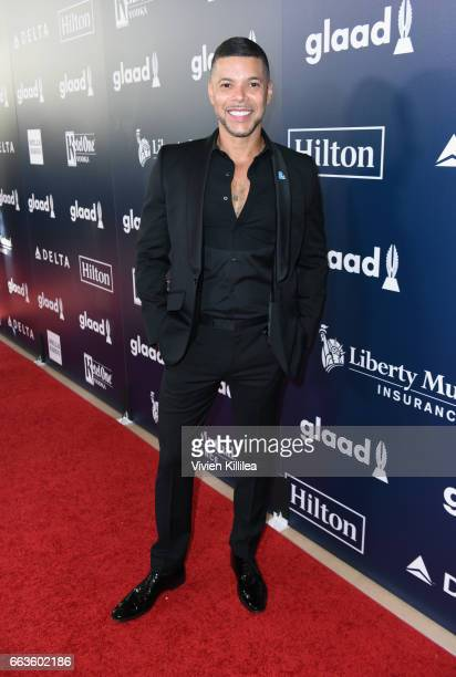 Actor Wilson Cruz attends the 28th Annual GLAAD Media Awards in LA at The Beverly Hilton Hotel on April 1 2017 in Beverly Hills California