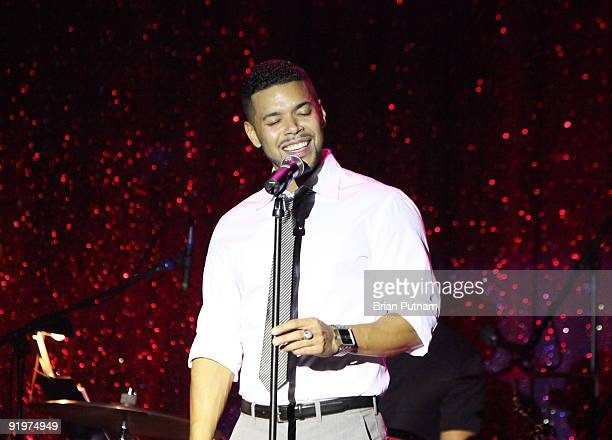 Actor Wilson Cruz performs at 'The 5th Annual inCONCERT To Benefit Project Angel Food' at The Howard Fine Theatre on October 17 2009 in Hollywood...