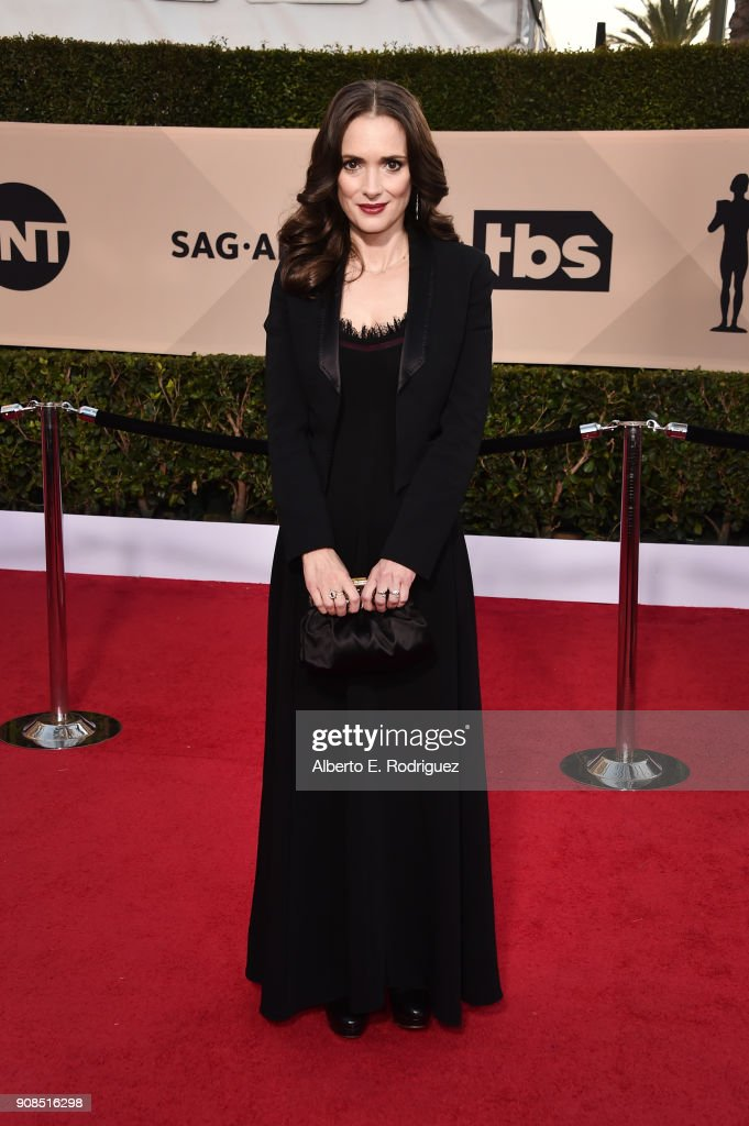 Actor Winona Ryder attends the 24th Annual Screen Actors Guild Awards at The Shrine Auditorium on January 21, 2018 in Los Angeles, California. 27522_006