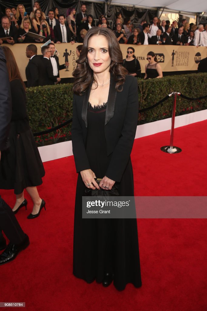 Actor Winona Ryder attends the 24th Annual Screen ActorsGuild Awards at The Shrine Auditorium on January 21, 2018 in Los Angeles, California.