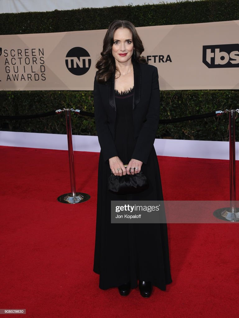 Actor Winona Ryder attends the 24th Annual Screen Actors Guild Awards at The Shrine Auditorium on January 21, 2018 in Los Angeles, California.