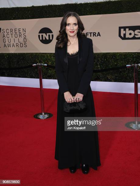 Actor Winona Ryder attends the 24th Annual Screen Actors Guild Awards at The Shrine Auditorium on January 21 2018 in Los Angeles California