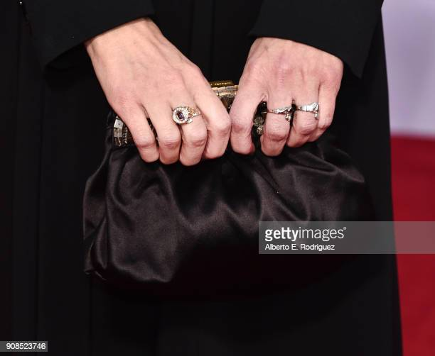 Actor Winona Ryder fashion detail attends the 24th Annual Screen Actors Guild Awards at The Shrine Auditorium on January 21 2018 in Los Angeles...