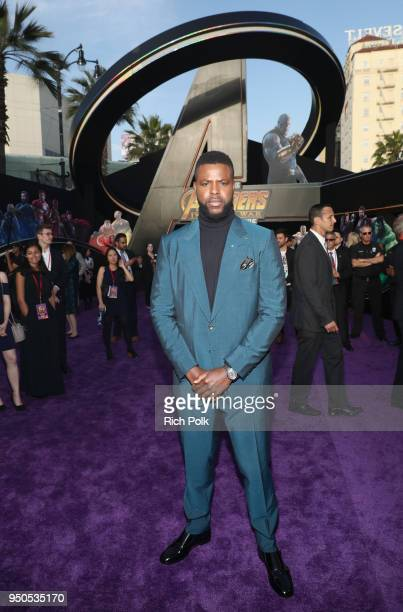 Actor Winston Duke attends the Los Angeles Global Premiere for Marvel Studios' Avengers Infinity War on April 23 2018 in Hollywood California