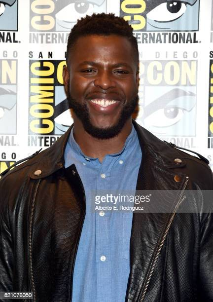 Actor Winston Duke from Marvel Studios' 'Black Panther' at the San Diego ComicCon International 2017 Marvel Studios Panel in Hall H on July 22 2017...