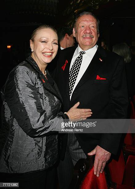 Actor Wolfgang Voelz and Barbara Schoene attend the Artists Against Aids gala at Theater des Westens on November 5 2007 in Berlin Germany