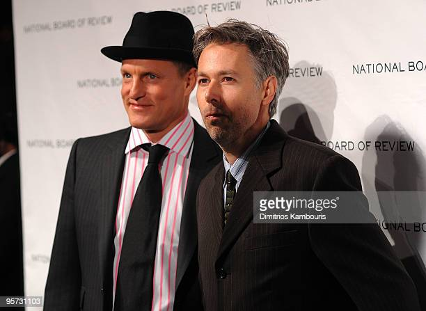 Actor Woody Harrelson and musician Adam Yauch attend the 2010 National Board of Review Awards Gala at Cipriani 42nd Street on January 12, 2010 in New...