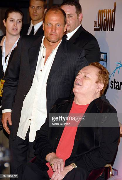 Actor Woody Harrelson and publisher Larry Flynt arrive at the premiere of The Grand held on March 5, 2008 at the Arclight Cinerama Dome in Hollywood,...