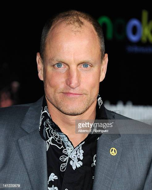 Actor Woody Harrelson arrives to the premiere of Lionsgate's 'The Hunger Games' at Nokia Theatre LA Live on March 12 2012 in Los Angeles California