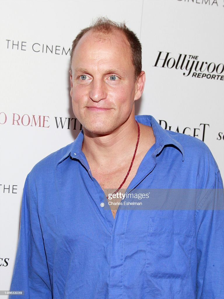 Actor Woody Harrelson attends The Cinema Society with the Hollywood Reporter & Piaget and Disaronno screening of 'To Rome With Love' at The Paris Theatre on June 20, 2012 in New York City.