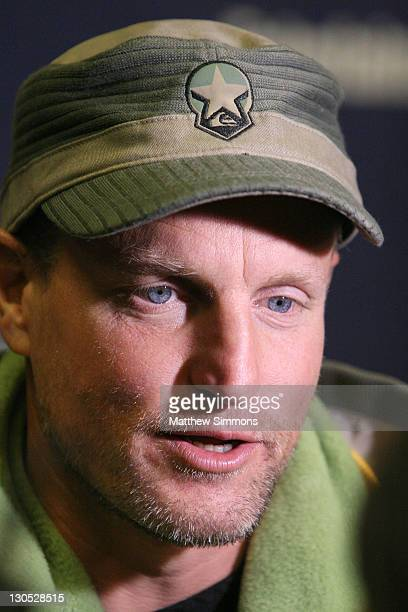 Actor Woody Harrelson attends the Transsiberian premiere during the 2008 Sundance Film Festival at the Eccles Theatre on January 18 2008 in Park City...