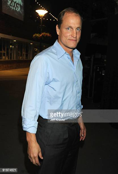Actor Woody Harrelson during Spike TV's Scream 2009 held at the Greek Theatre on October 17 2009 in Los Angeles California