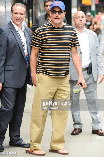 Actor Woody Harrelson leaves the 'Good Morning America' taping at the ABC Times Square Studios on July 10 2017 in New York City