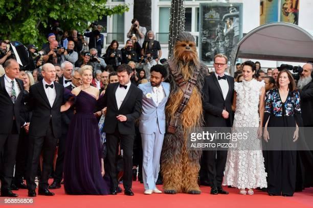 US actor Woody Harrelson US director Ron Howard British actress Emilia Clarke US actor Alden Ehrenreich US actor Donald Glover Chewbacca British...