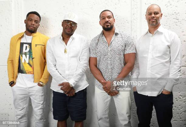 Actor Woody McClain Bobby Brown actor Laz Alonso and producer Jesse Collins pose for a portrait during the 22nd Annual American Black Film Festival...