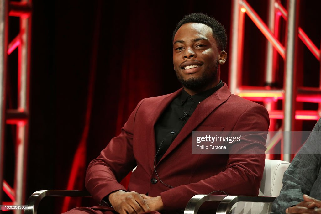 Actor Woody McClain of the television show 'The Bobby Brown Story' speaks during the Viacom segment of the Summer 2018 Television Critics Association Press Tour at the Beverly Hilton Hotel on July 27, 2018 in Beverly Hills, California