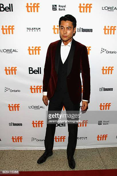 Actor Woosung Jung attends the 'Asura The City Of Madness' premiere held at The Elgin during the Toronto International Film Festival on September 13...