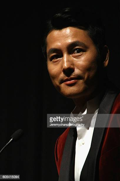 Actor Woosung Jung attends the Asura The City Of Madness premiere held at The Elgin during the Toronto International Film Festival on September 13...