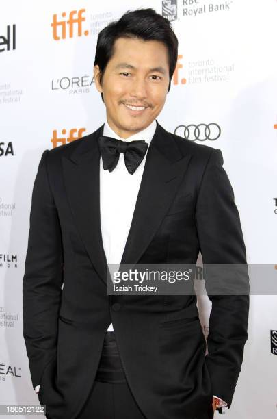 Actor Woosung Jung attends the 'Cold Eyes' premiere during the 2013 Toronto International Film Festival at at Roy Thomson Hall on September 13 2013...