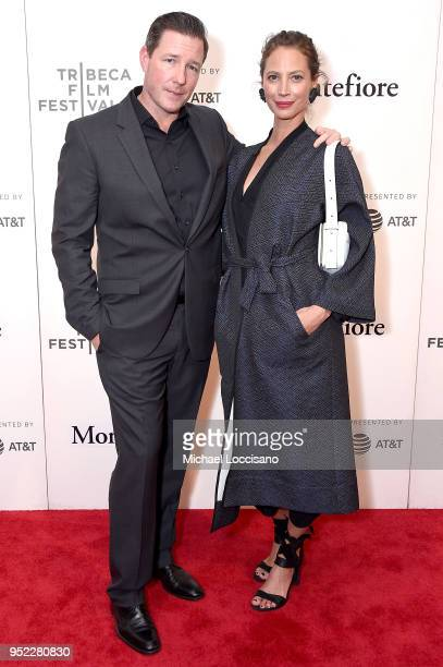 Actor writer and director Ed Burns and wife model and activist Christy Turlington attend the premiere of Summertime with Tribeca Talks Storytellers...