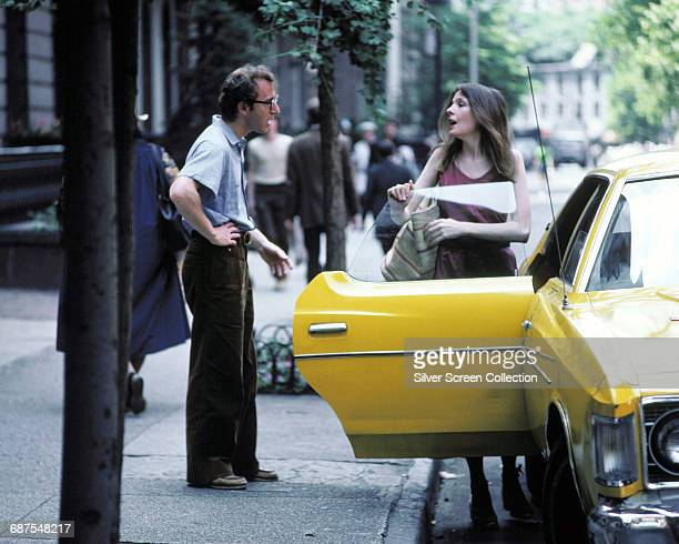 Actor writer and director Woody Allen as Alvy Singer and actress Diane Keaton as Annie Hall in the film 'Annie Hall' 1977