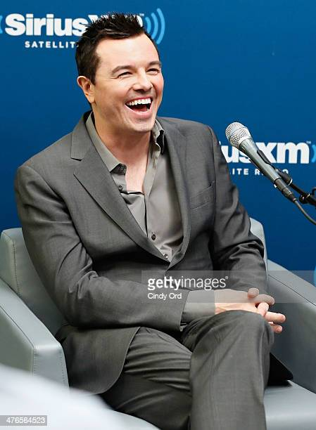 Actor/ writer/ director Seth MacFarlane takes part in SiriusXM's Town Hall with Seth MacFarlane moderated by Matt Bean at the SiriusXM Studios on...