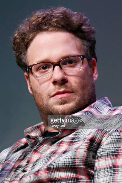 Actor/ writer/ director Seth Rogen attends 'Meet The Filmmakers Seth Rogen And Evan Goldberg 'This Is the End'' at Apple Store Soho on June 10 2013...