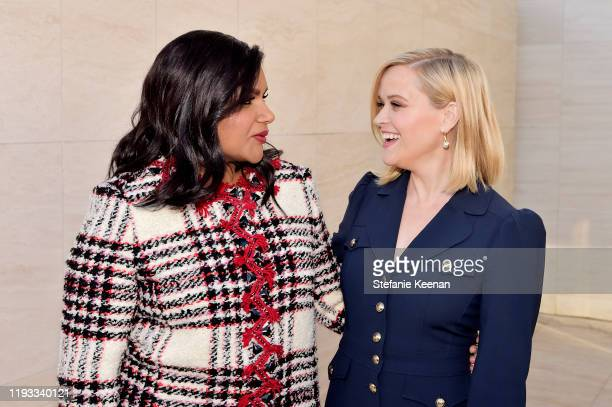 Actor Writer Mindy Kaling and honoree Reese Witherspoon attend The Hollywood Reporter's Power 100 Women in Entertainment at Milk Studios on December...