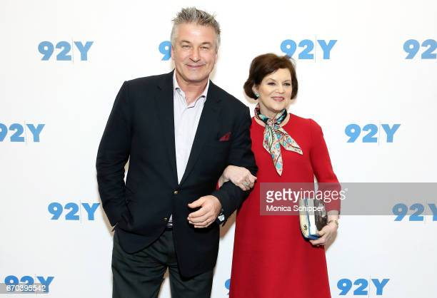 Actor writer producer and comedian Alec Baldwin and journalist Janet Maslin attend Alec Baldwin In Conversation With Janet Maslin at 92nd Street Y on...