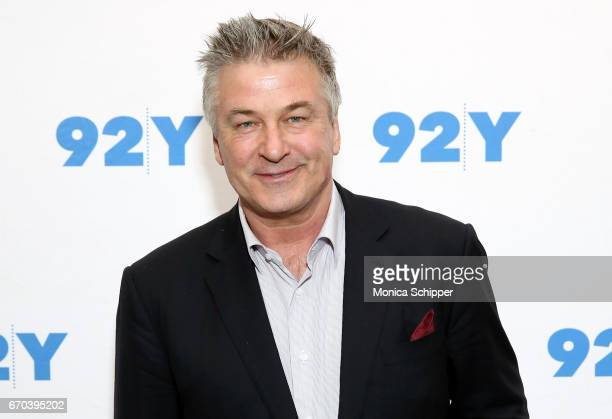 Actor writer producer and comedian Alec Baldwin attends Alec Baldwin In Conversation With Janet Maslin at 92nd Street Y on April 19 2017 in New York...