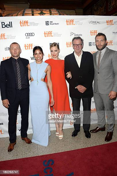 Actor/ writer/ producer Joel Edgerton actors Sarah Roberts Melissa George Tom Wilkinson and Jai Courtney arrive at the 'Felony' Premiere during the...