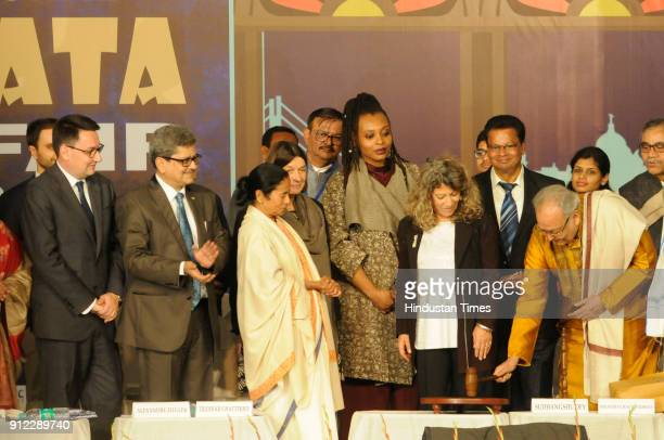 Actor writer Soumitra Chatterjee inagurates 42nd International Kolkata Book Fair in presence of Ambassador of France to India Alexandre Ziegler and...