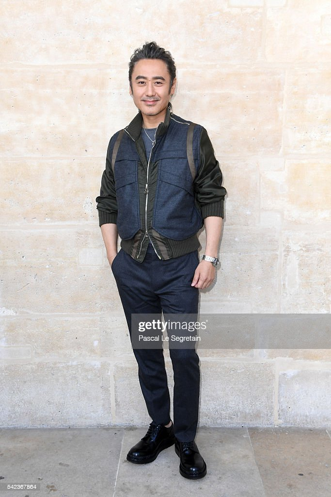 Actor Wu Xiubo attends the Louis Vuitton Menswear Spring/Summer 2017 show as part of Paris Fashion Week on June 23, 2016 in Paris, France.