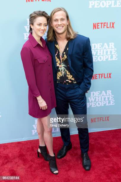 "Actor Wyatt Nash and Aubrey Swander attend the ""Dear White People"" Season 2 Special Screening on May 2, 2018 in Hollywood, California."