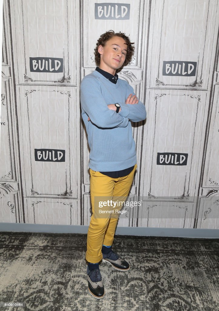 Actor Wyatt Oleff attends Build to discusss the movie 'IT' at Build Studio on August 30, 2017 in New York City.