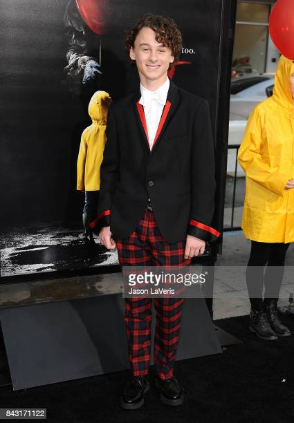 Actor Wyatt Oleff attends the premiere of It at TCL Chinese Theatre on September 5 2017 in Hollywood California