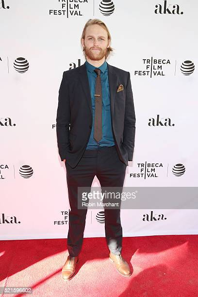 """Actor Wyatt Russell attends the """"Folk Hero & Funny Guy"""" Premiere during the 2016 Tribeca Film Festival at SVA Theater 1 on April 16, 2016 in New York..."""