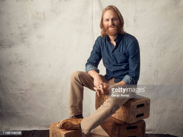 Actor Wyatt Russell of AMC Networks' 'Lodge 49' poses for a portrait during the 2019 Summer TCA Portrait Studio at The Beverly Hilton Hotel on July...