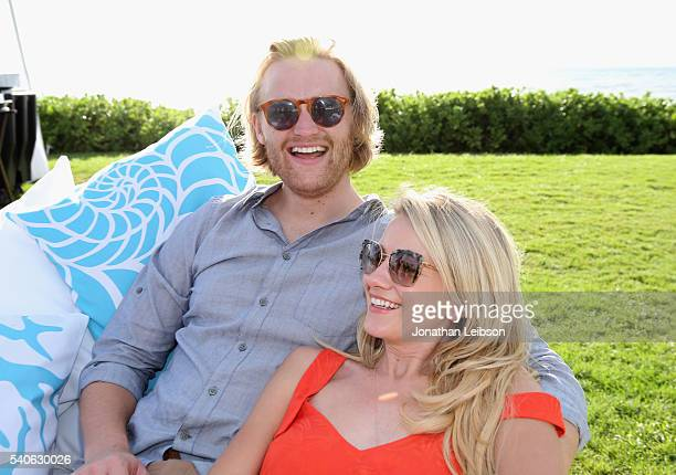 Actor Wyatt Russell recipient of the 2016 Maui Film Festival Rising Star Award in Wailea and actress Meredith Hagner attend Maui Film Festival's...