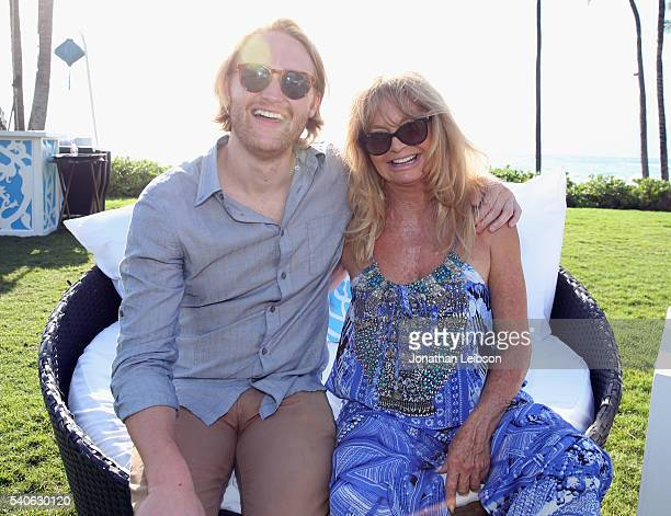 Actor Wyatt Russell, recipient of the 2016 Maui Film Festival Rising Star Award in Wailea, and actress Goldie Hawn attend Maui Film Festival's Taste...